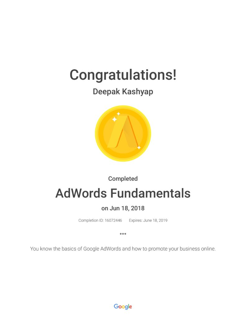 google Adwords certified trainer