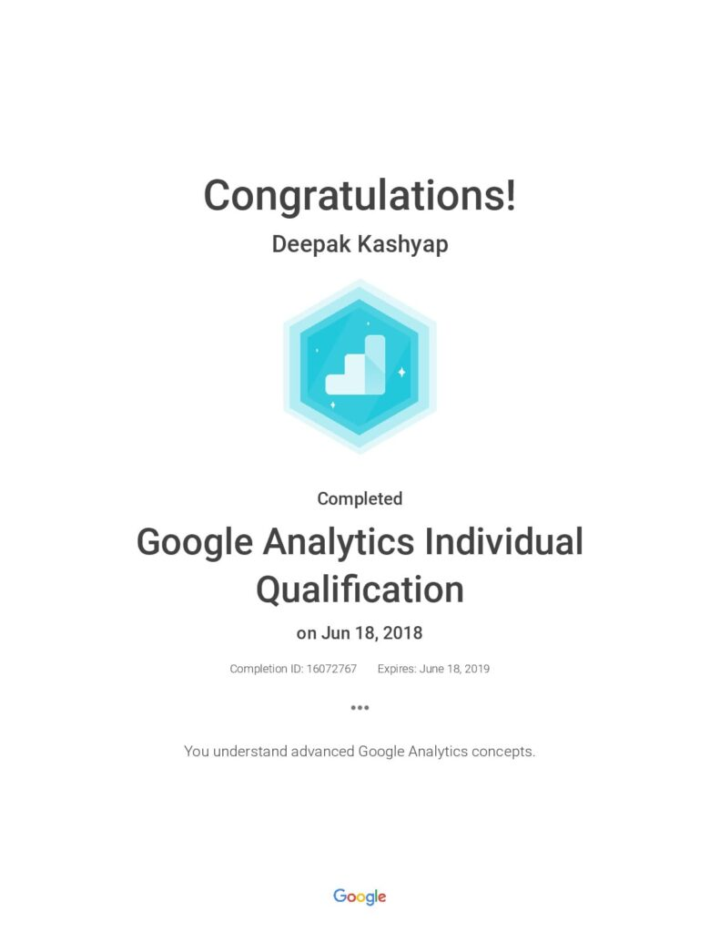 google analytics certified trainer